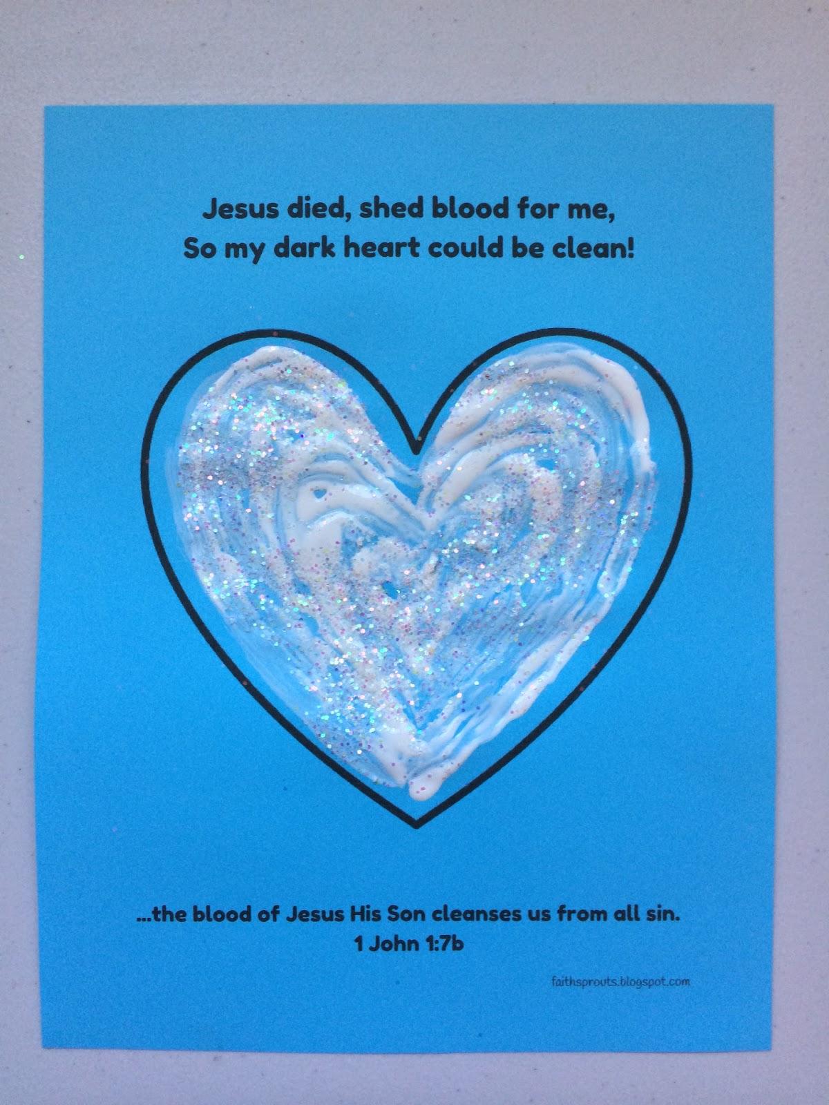 Faith Sprouts White Heart