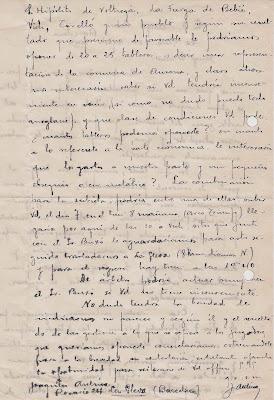 Carta Manuscrita de Joaquim Aulina 20 de agosto de 1941 (2)