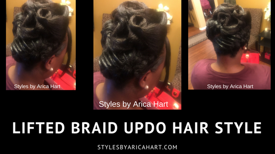 Lifted Braid Updo Hair Style