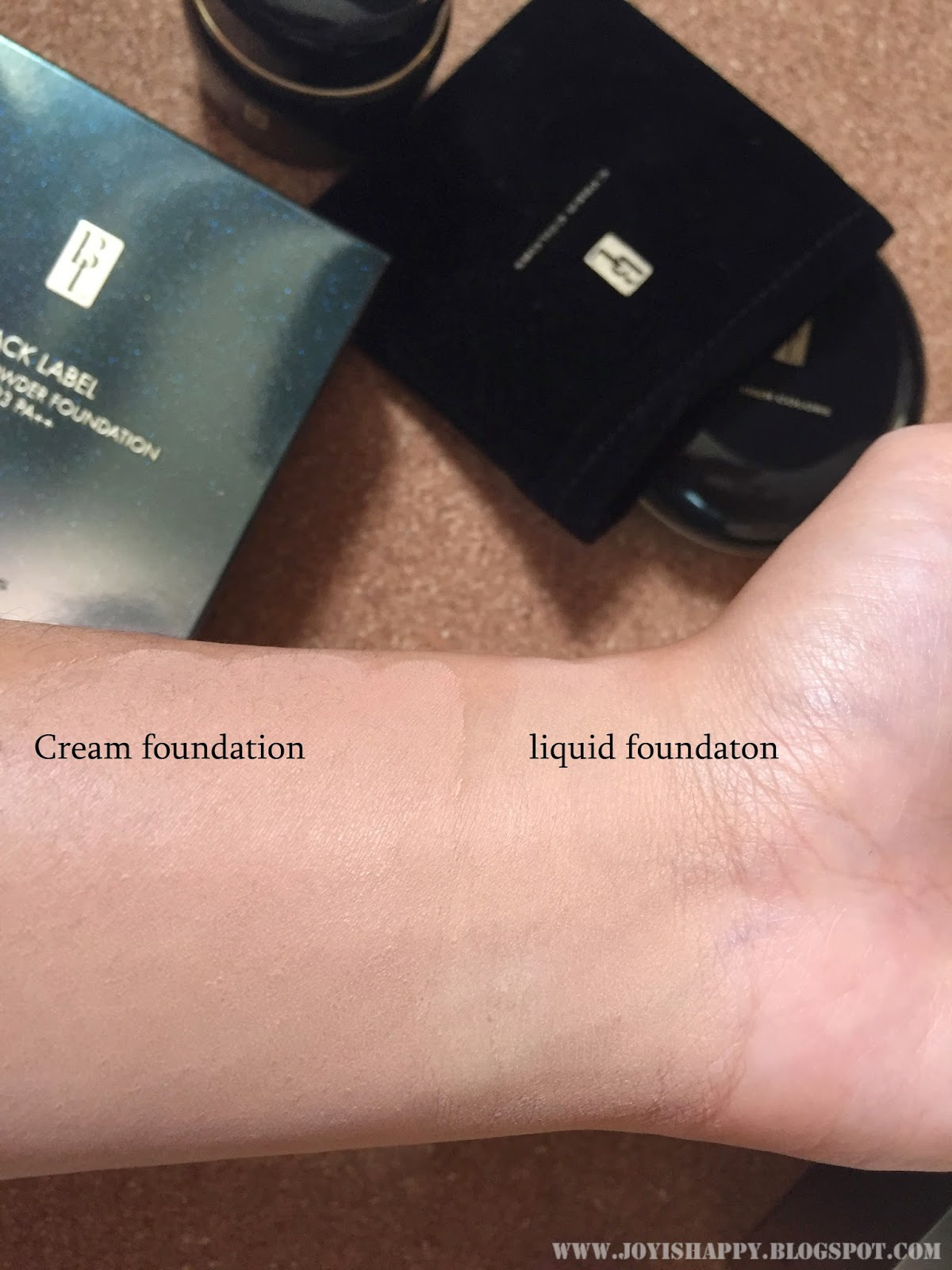 cyber colours black label foundation swatches