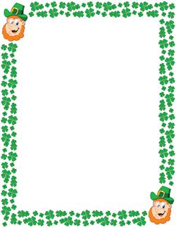 St Patrick's day 2018 clip art borders