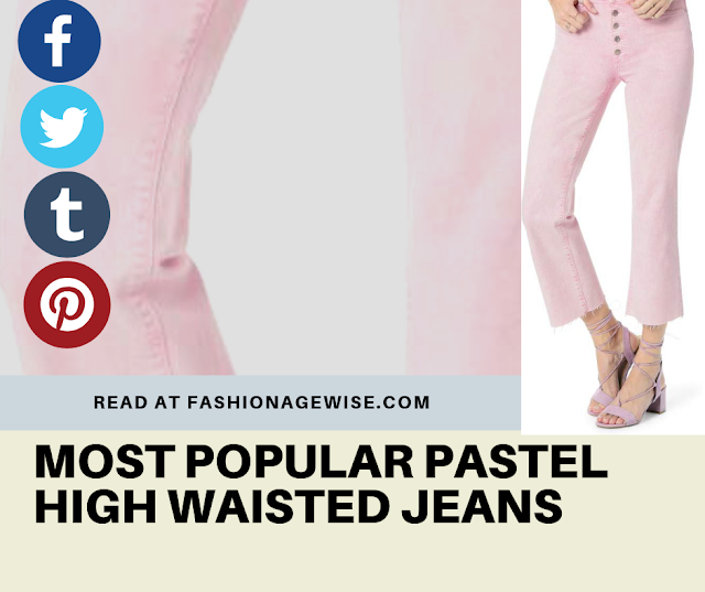 image result MOST POPULAR PASTEL HIGH WAISTED JEANS