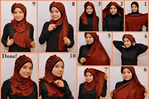 Cara memakai hijab 4