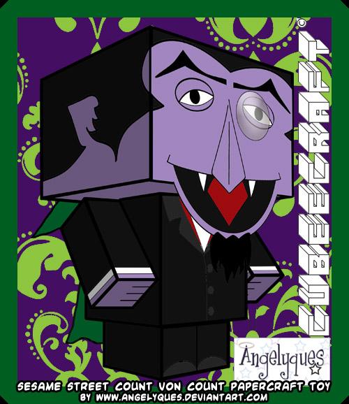 Ninjatoes Papercraft Weblog Sesame Street Count Von Count