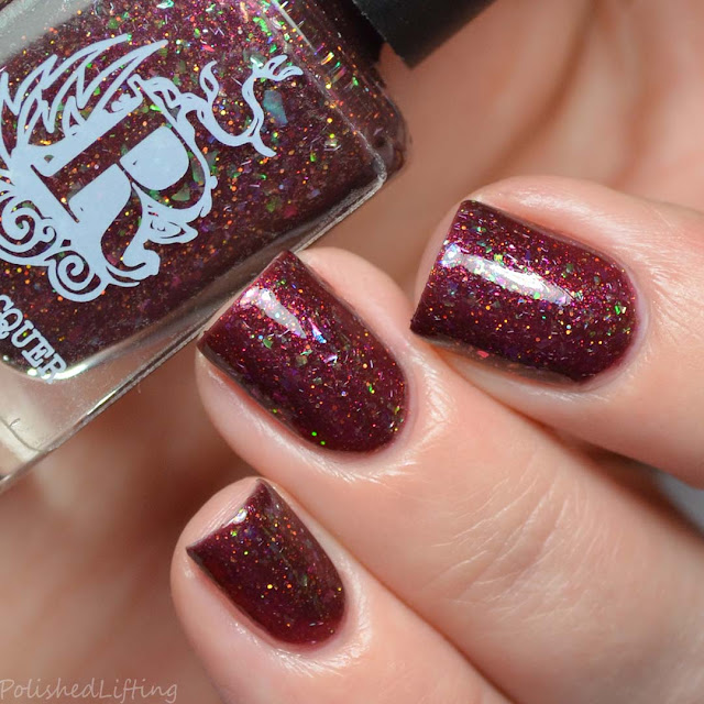 oxblood flakie nail polish