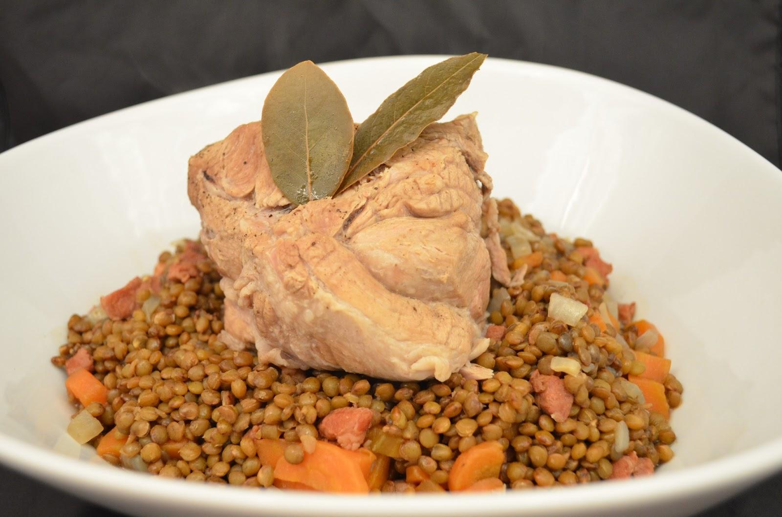 u me in the kitchen petit sal aux lentilles porc with lentils. Black Bedroom Furniture Sets. Home Design Ideas