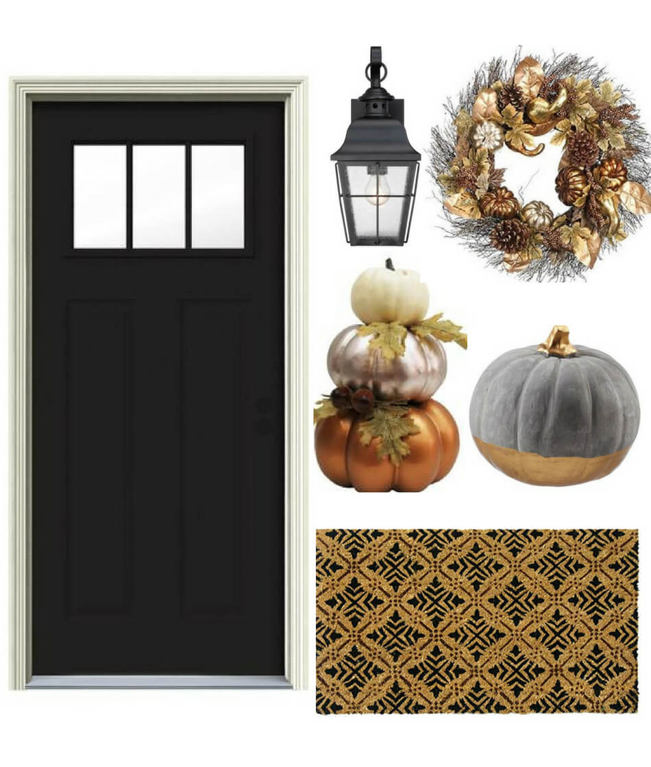 fall decorating ideas for black front door