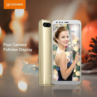 Gionee S11 with 4 cameras to launch in India in January 2018