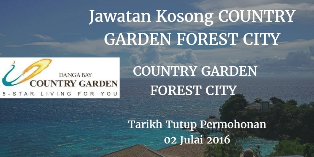 Jawatan Kosong COUNTRY GARDEN FOREST CITY 02 Julai 2016