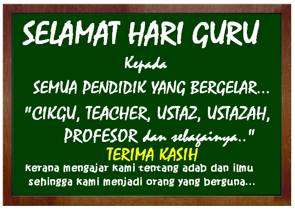 Dibalik Perjuangan Guru Mendidik Siswa diperingati 25 November
