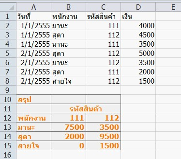 how to use sumifs in excel 2007