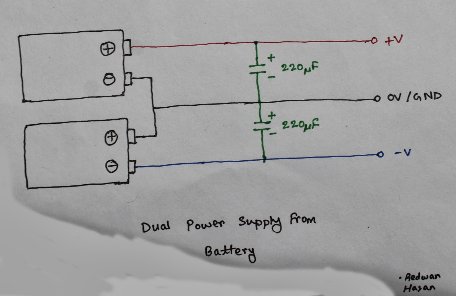 Dual Supply From Single Battery Source