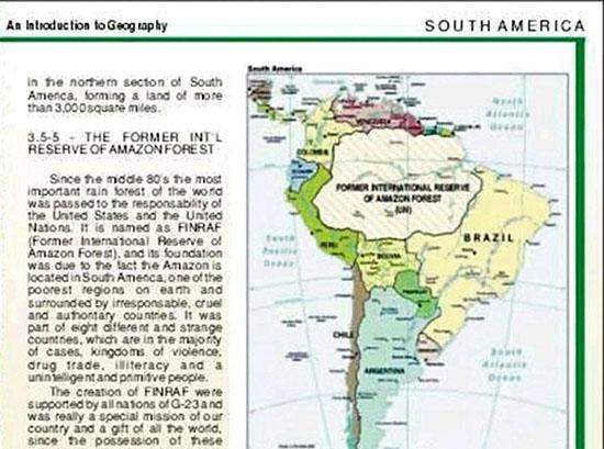 Livro mostra Amazônia como território separado Brasil