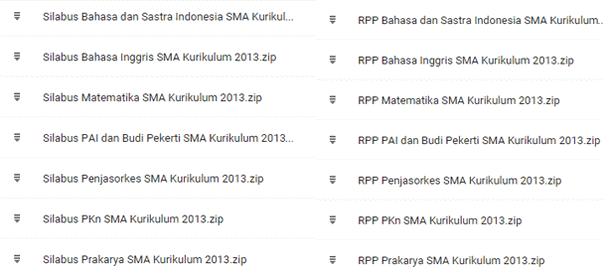 Silabus dan Contoh RPP SMA Kurikulum 2013