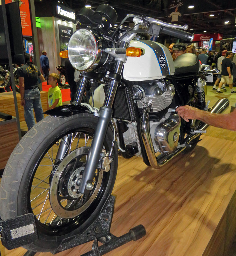 Cafe racer motorcycle.
