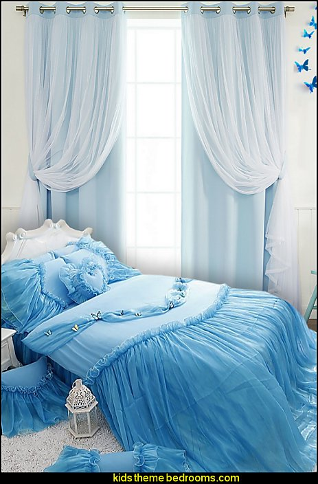 princess bedding sheer lace curtains decorating princess theme bedrooms