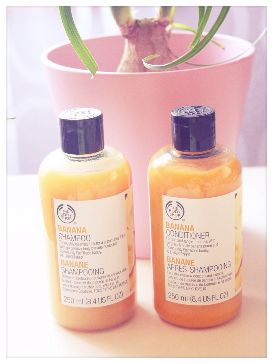 The Body Shop Banana shampoo banana conditioner