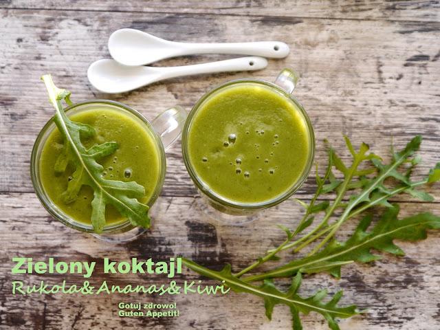 Zielony kokotajl odchudzający rukola & ananas & kiwi - Czytaj więcej »