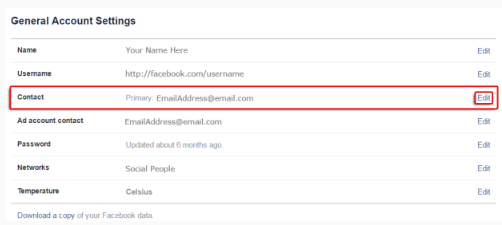 how to choose email address for facebook