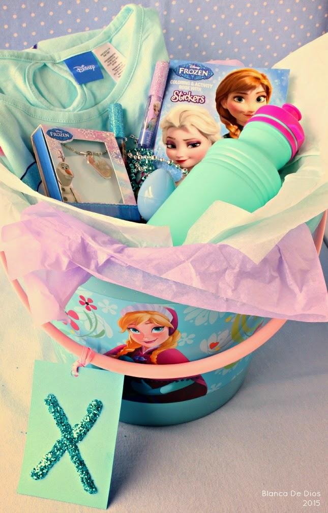 Canasta de pascua para niñas inspirada en FROZEN
