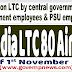 Air India LTC 80 Air Fare effecive from 1st November 2017