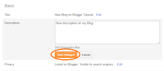 change Blog Description on Blogger