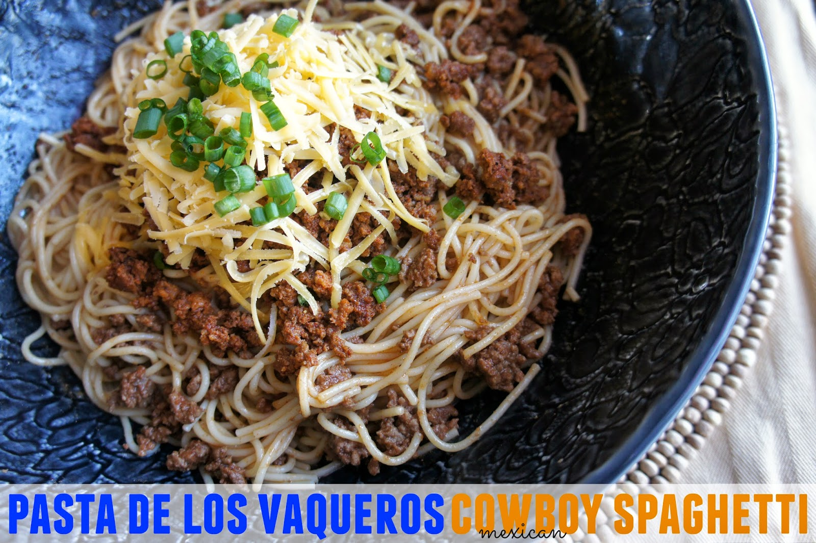 #BarillaFiesta Mexican Cowboy Spaghetti using chorizo, ground sirloin, cheddar and green onions