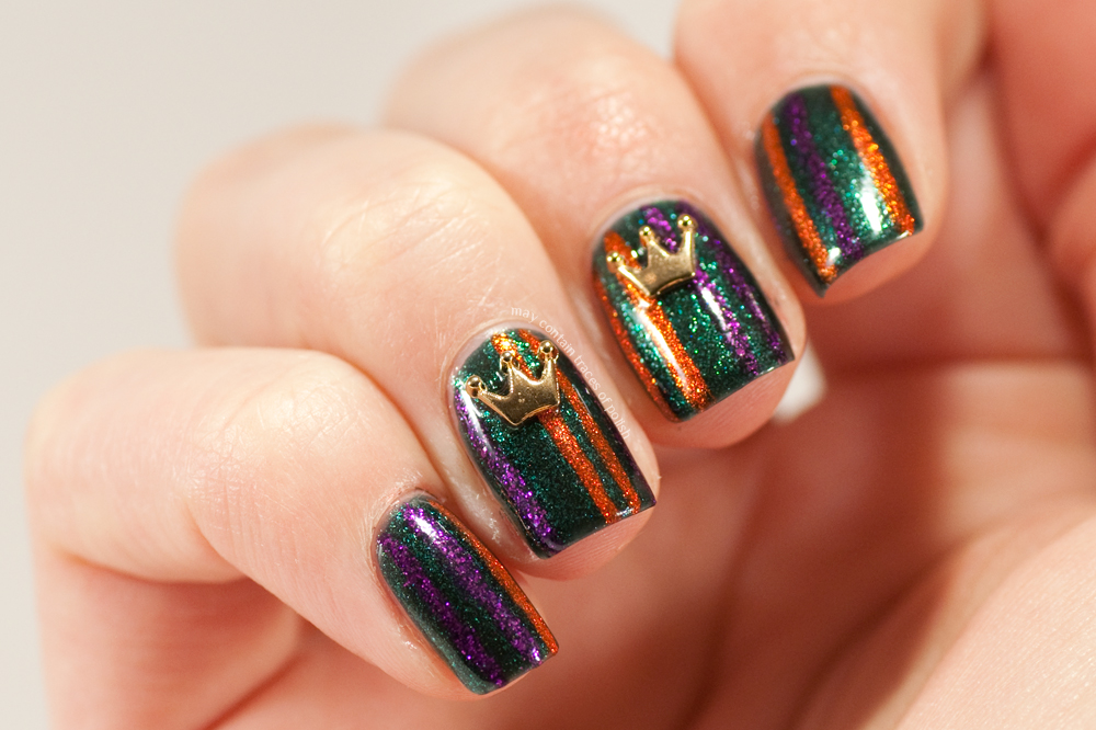 40 Great Nail Art Ideas - Orange, Purple and Green - May ...