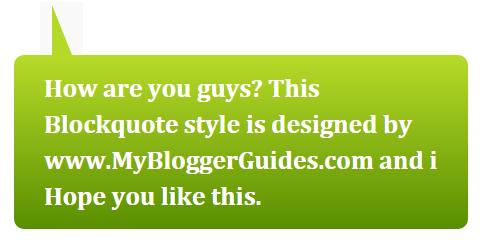 Blogger Blockquote Style 2