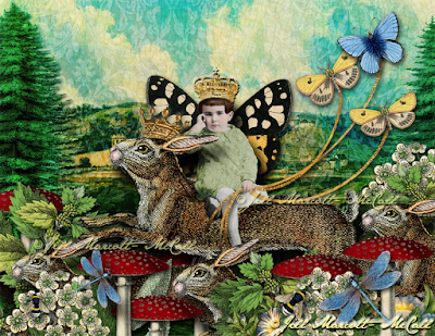 The Little Prince & The Rabbit King- © Jill Marcott-McCall for Graphics Fairy Premium Membership