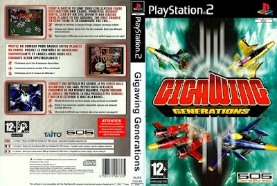 Jogo GigaWing Generations PS2 DVD Capa
