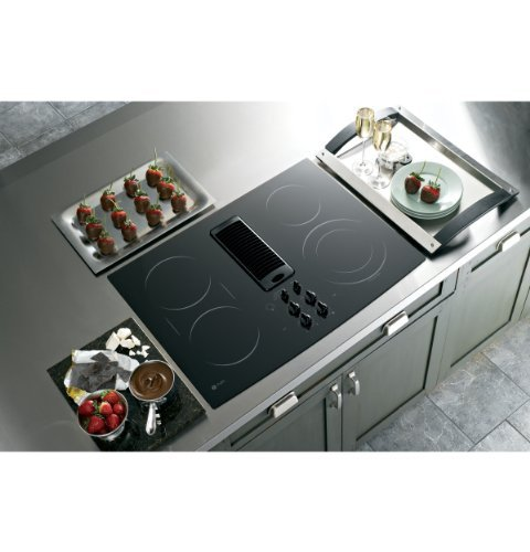 Ge Profile Pp989dnbb 30 Electric Cooktop Downdraft Smoothtop Black