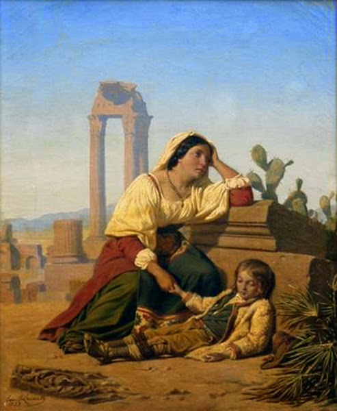 Paintings by French artist Émile Charles Hippolyte Lecomte-Vernet (1821-1900)