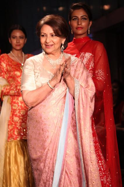 Sharmila Tagore in Rohini Gugnani attire