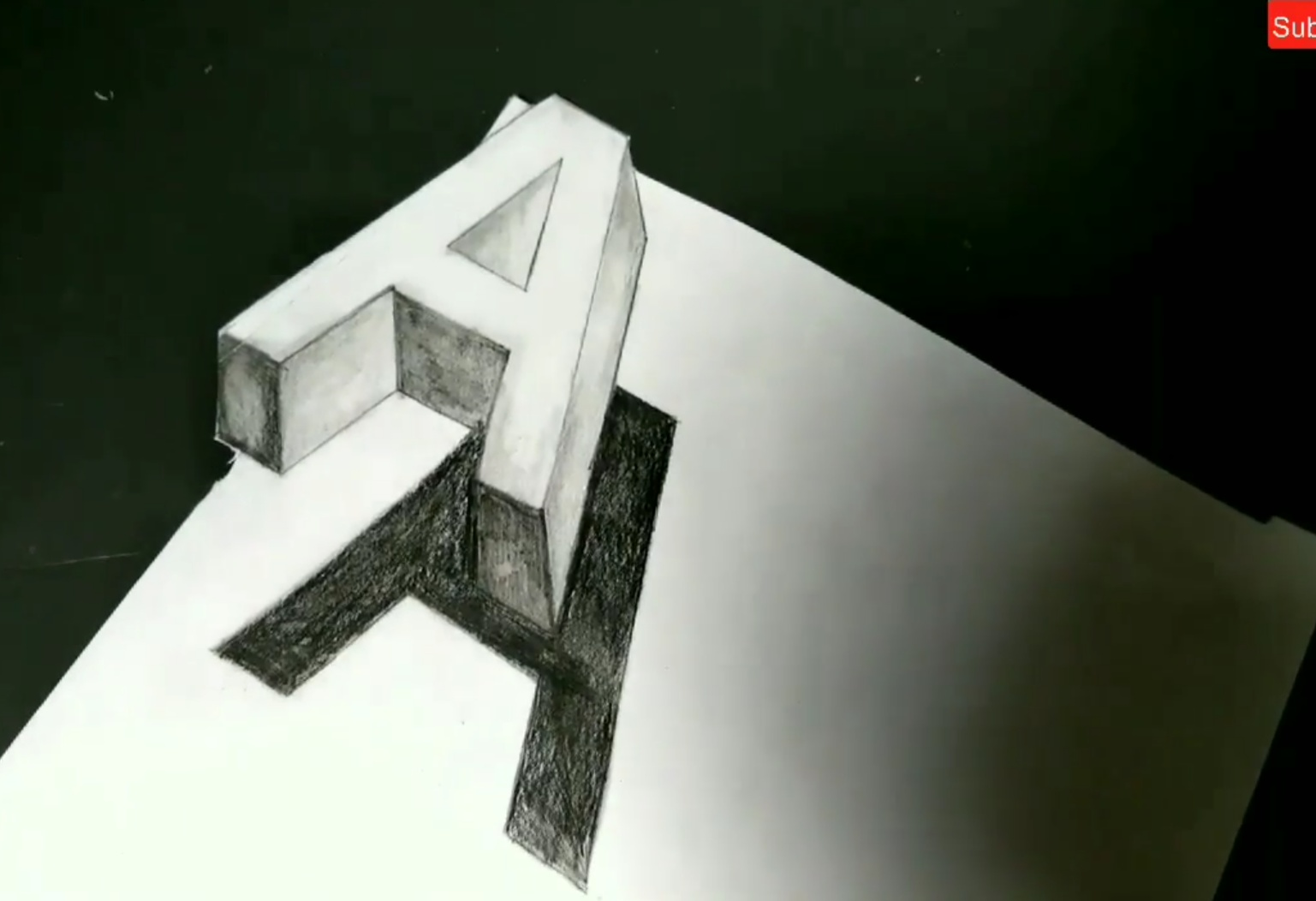 How to draw a 3d letters drawing step by step tutorial learn to