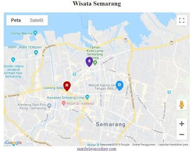 Cara Mengganti Icon Marker di Google Maps API