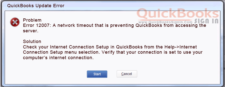 How to Fix QuickBooks Error 12007