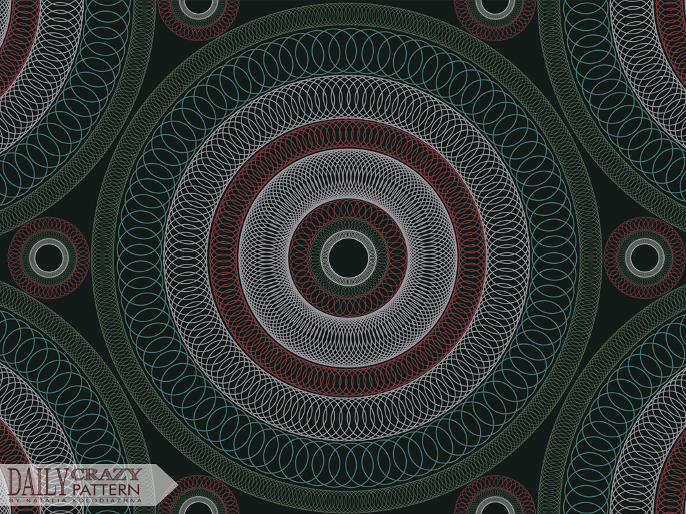 "Circular pattern, mandala for ""Daily Crazy Pattern"" project 