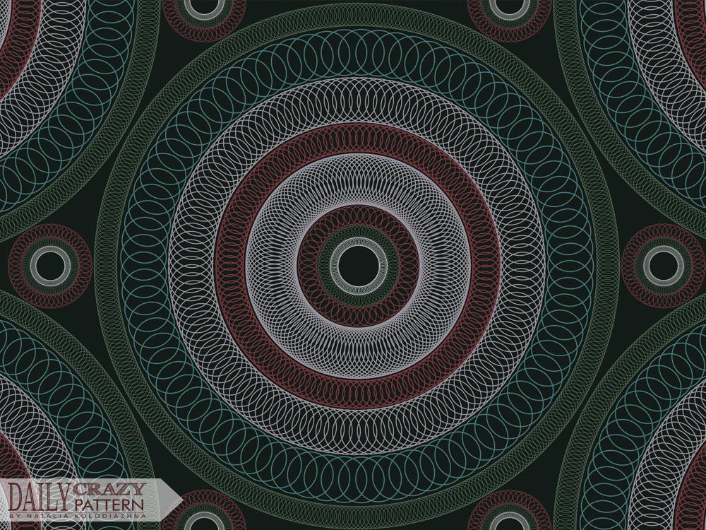 "Circular pattern, mandala for ""Daily Crazy Pattern"" project | Natalia Kolodiazhna"