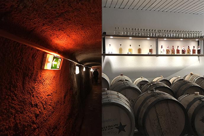 Historische Felsengänge in Nürnberg. Ayrer's Whisky in Nürnberg.