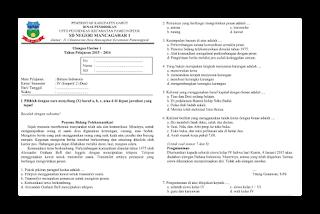 Soal Ulangan Harian Bahasa Indonesia Kelas 4 Semester 2