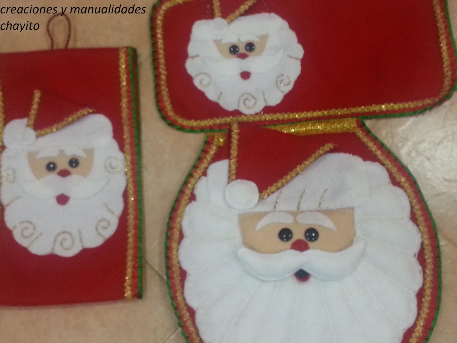 Creaciones Y Manualidades Chayito Juegos De Bano De Santa Claus