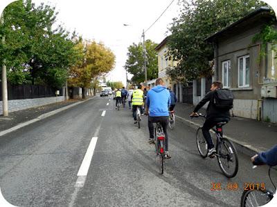 coloana de biciclisti