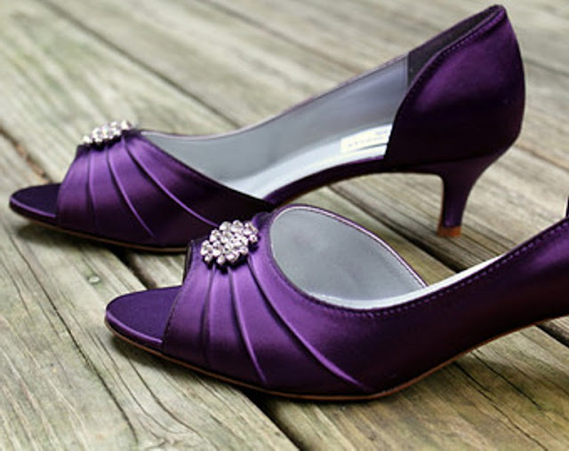 Purple Flats For Wedding