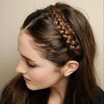 Gambar model rambut kepang 7