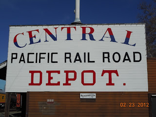 central pacific railroad sign