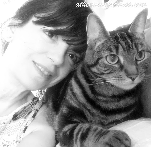 cat mum and fur baby selfie