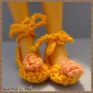 туфли крючком