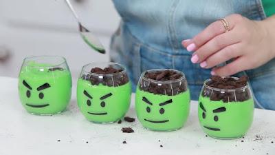 hulk pudding cups