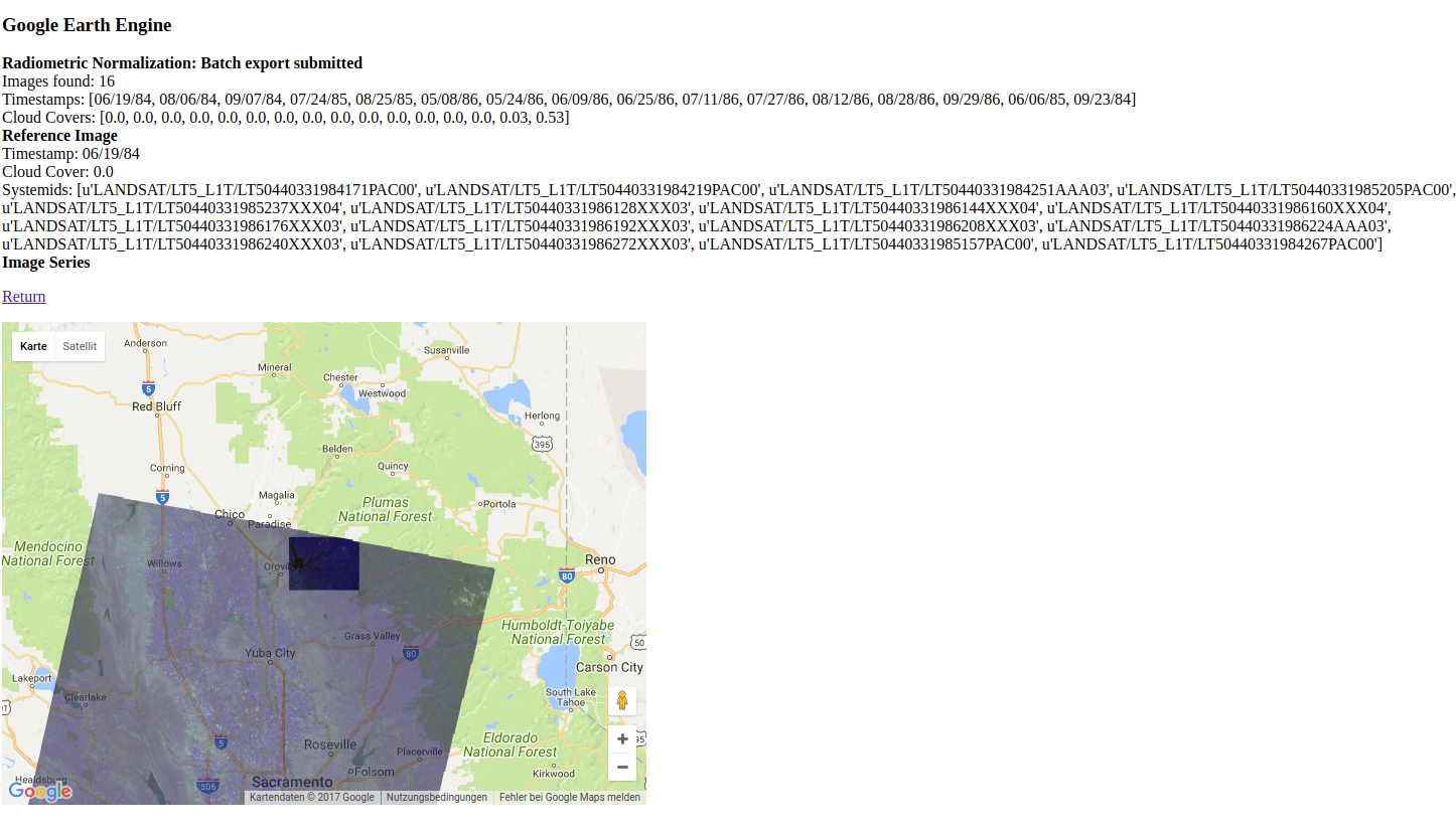 Automatic Radiometric Normalization with the Google Earth